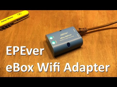 EPEver eBox-Wifi-01 RS485 to Wifi Adapter Review - 12v Solar Shed