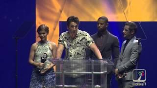 FANTASTIC FOUR wins CinemaCon Award (Jamie Bell, Michael B. Jordan, Kate Mara and Miles Teller)