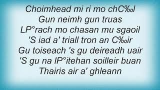 Runrig - Thairis Air A' Ghleann Lyrics