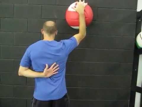 EricCressey.com: 1-arm Serratus Wall Slides with Med Ball ...