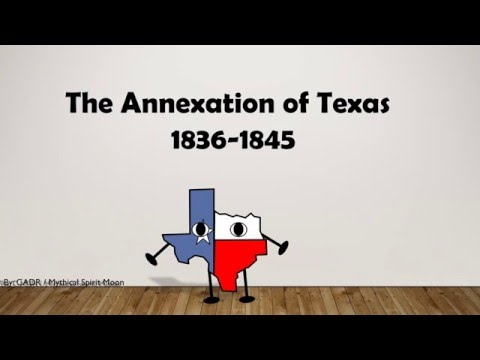 Annexation of Texas animation