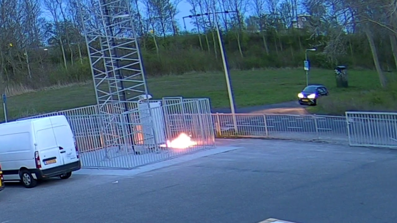 5G Arson Attack On Mast Captured On Camera