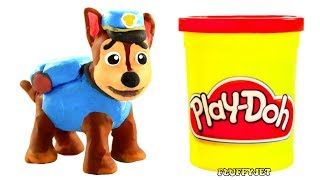 Paw Patrol Stop Motion! Play Doh Kids Toys & Family Fun Playtime! Funny Video for childrem