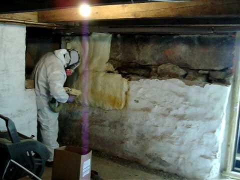 Bridge Farm Retrofit Spray Foam Basement From 2 Ft Below