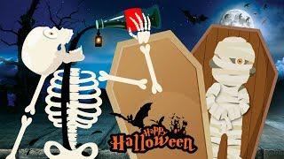 finger family song halloween monster song kids pop Toddler music ghost mummy
