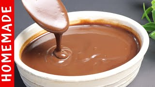 Chocolate Syrup Recipe Homemade Chocolate Sauce Recipe  by (HUMA IN THE KITCHEN)