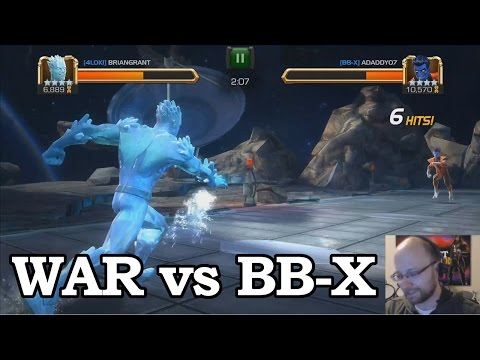Alliance War vs BB-X with Iceman, Quake, Vision | Marvel Contest of Champions