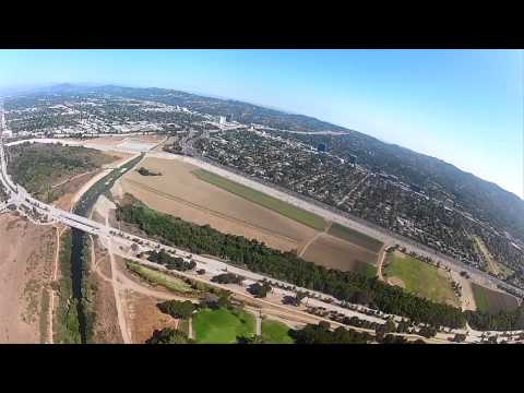 Airplane Tour Part 1 Flying Over the San Fernando Valley CA - 1080p High Definition