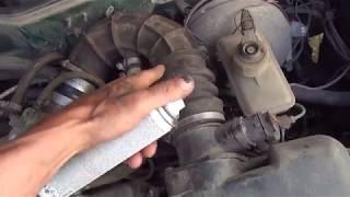 Признаки и поиск подсоса воздуха в коллектор двигателя