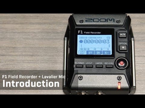 F1 Field Recorder + Lavalier Mic Introduction