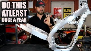 Dirt bike swingarm maintenance and rebuild - RMZ 450 build Part 8