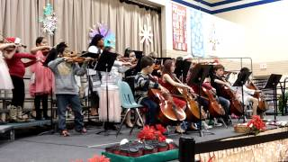 Jacobie playing Cello in today's Christmas concert