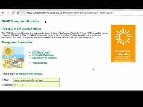 Cosmetic Science - Sunscreen Tool