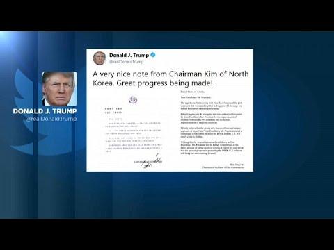 Trump recebe carta de Kim Jong-un