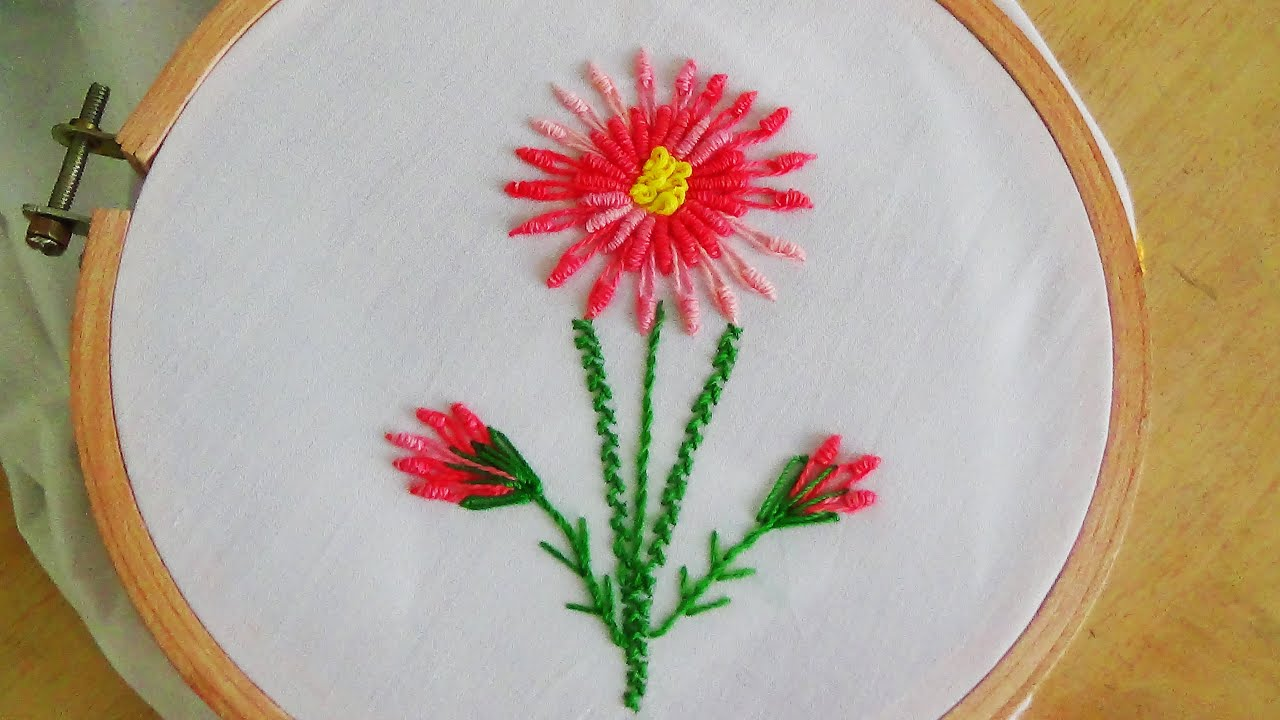 Bullion Knot Stitch Embroidery Designs