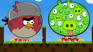 Angry Birds Cannon 3 - TERENCE FORCE OUT GIANT 100 EYES PIGGIES!!