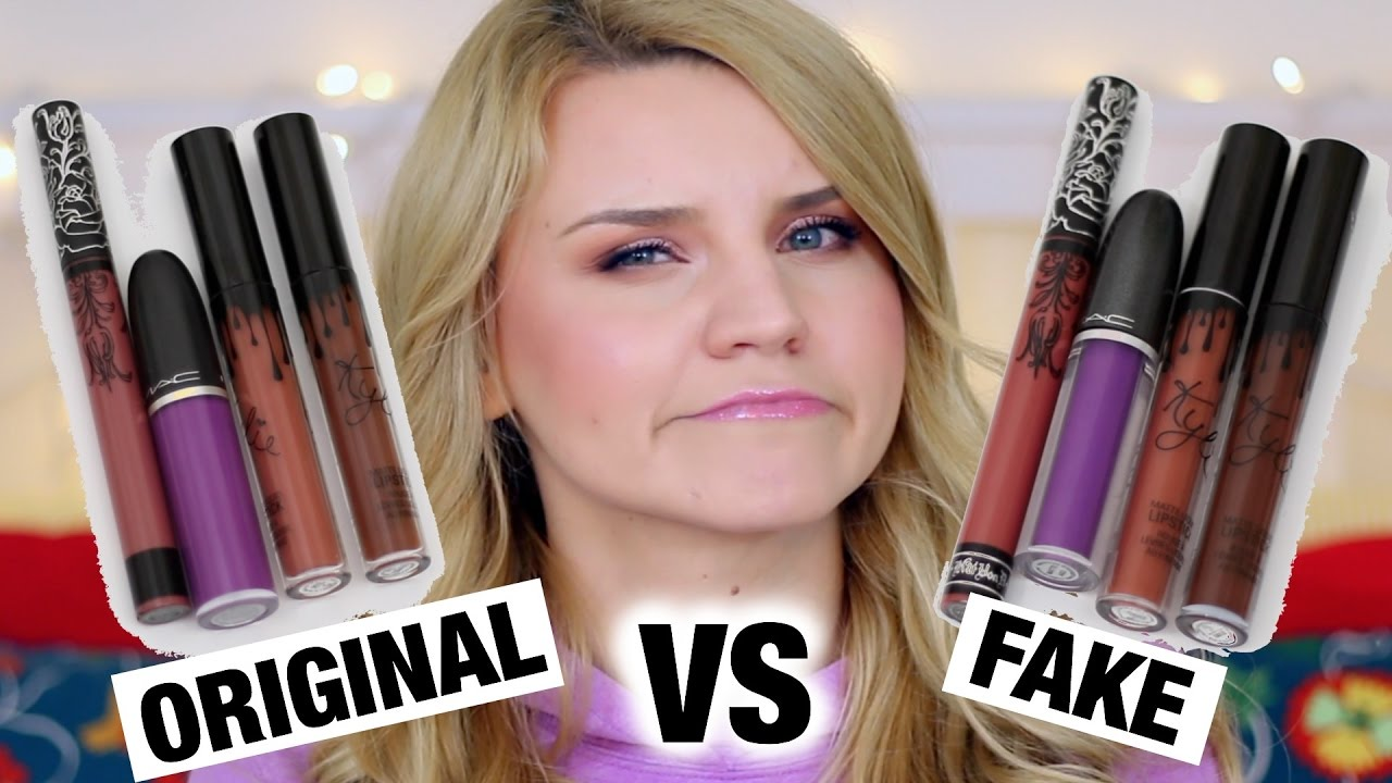 Original Vs Fake Rujuri Kylie Mac Kat Von D Youtube