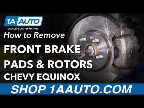 How To Replace Front Brake Pads & Rotors 10-17 Chevy Equinox