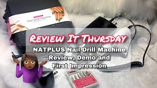 NATPLUS Rechargeable  Nail Drill Machine Review Demo and First impression