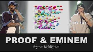Proof & Eminem on Trapped - Verse 1 - Lyrics, Rhymes Highlighted (080)