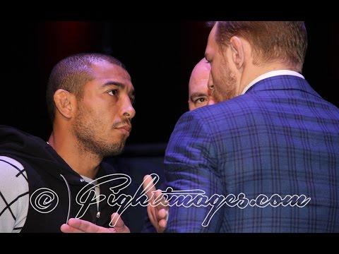 UFC 194 – JOSE ALDO VS. CONOR McGREGOR EPIC FACE OFF in NYC! (RAW & UNCUT)