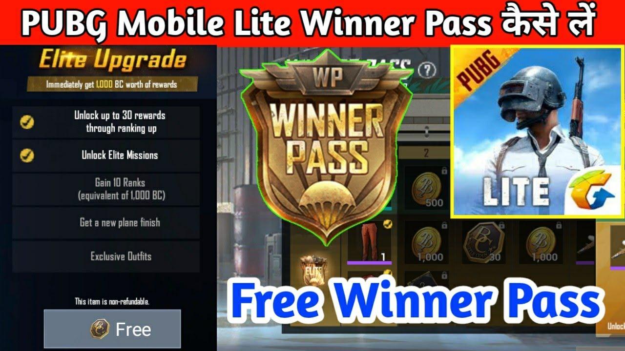 Pubg Mobile Lite Winner Pass Upgrade Get Winner Pass In Pubg Mobile Lite