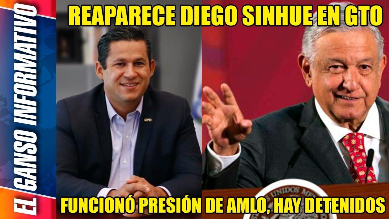 Firmeza de AMLO saca de su escondite al narco gober de Guanajuato y lo obliga a trabajar