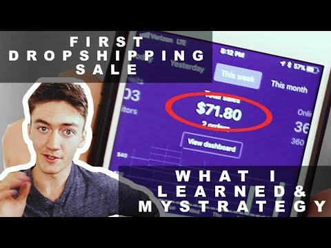 HOW TO MAKE YOUR FIRST SHOPIFY DROPSHIPPING SALE | Shopify tutorial for beginners