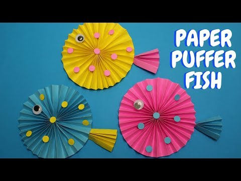 Paper Fish Craft For Kids | Paper Puffer Fish