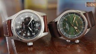 Seiko Alpinist & Hamilton Khaki Field - Sub $500 Swiss Vs. Japan Watch Comparison by 555 Gear