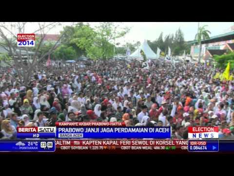 Prabowo Kampanye Terbuka di Banda Aceh