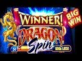 ★BIG WIN!★DRAGON SPIN SLOT★PROGRESSIVE WIN!! AND BONUSES!! $$$ LAS VEGAS SLOTS!!