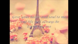 Dean Martin-La Vie en Rose (with Lyrics)
