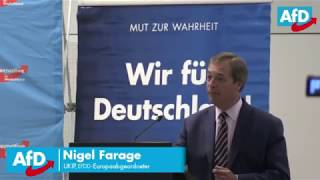 Nigel Farage Full Speech in Berlin Germany