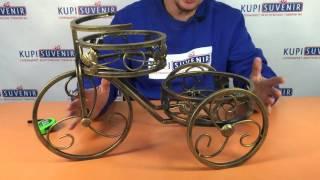 Подставка для цветов «Вело»(http://kupisuvenir.com.ua/product/podstavka-dlja-cvetov-velo/ Небольшая подставка для цветов в виде велосипеда, которая с удовольствие..., 2016-04-07T10:21:23.000Z)