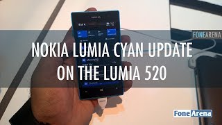 Lumia Cyan update on the Nokia Lumia 520