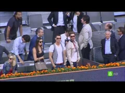 Nadal-Ferrer best points seen by Cristiano Ronaldo Mutua Madrid Open 2013
