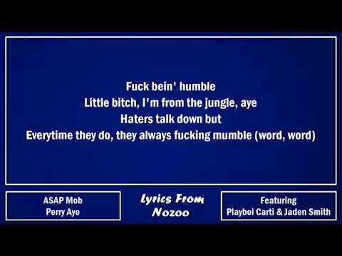 A$AP Mob - Perry Aye (Lyrics) Ft.  A$AP Rocky, A$AP Nast, Playboi Carti, Jaden Smith
