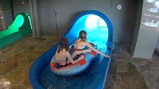 Big Blue Water Slide at Aquadome Billund