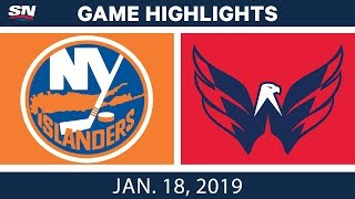 NHL Highlights | Islanders vs. Capitals - Jan. 18, 2019