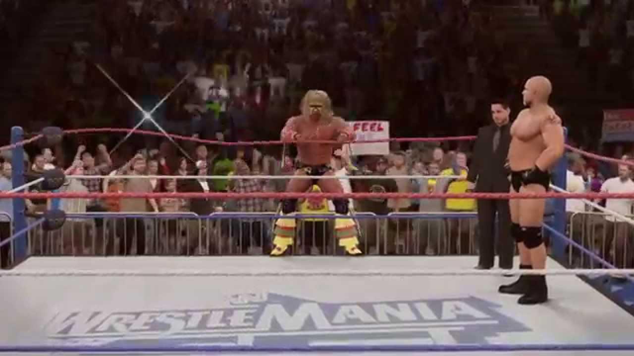 WWE 2K15 Goldberg vs Ultimate Warrior vs Lex Luger - YouTube