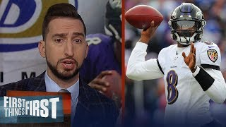 Nick Wright & Chris Broussard preview Jets vs. Ravens Thursday night game | NFL | FIRST THINGS FIRST