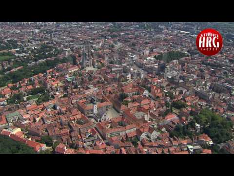 ZAGREB CATHEDRAL - Aerial TV footage