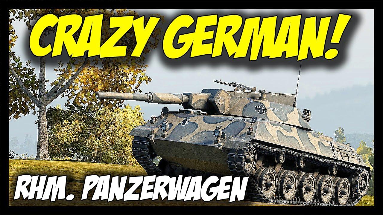 ► Rheinmetall Panzerwagen, Crazy German! - World of Tanks RHM  Panzerwagen  Gameplay