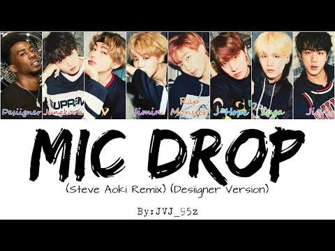 BTS(방탄소년단) - Mic Drop Desiigner Ver. (Colour Coded Lyrics Han/Rom/Eng) indir