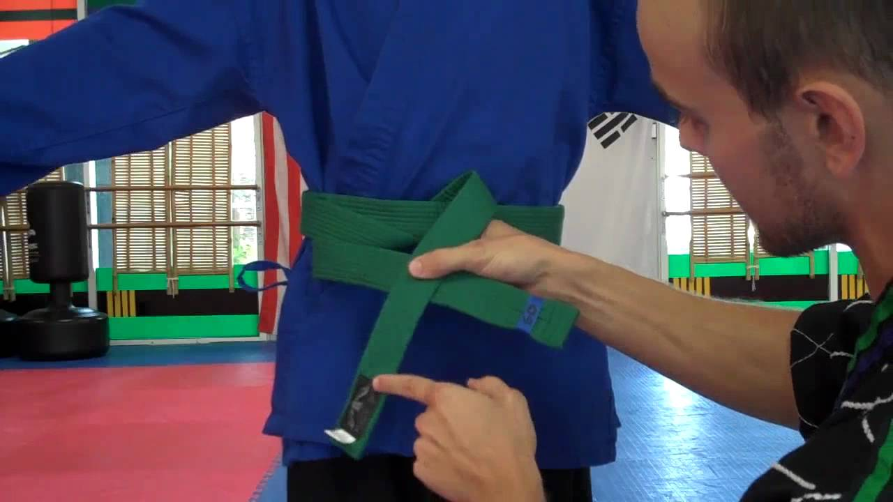 How To Tie A Student's Taekwondo Belt: A Guide For Parents And Instructors   Youtube