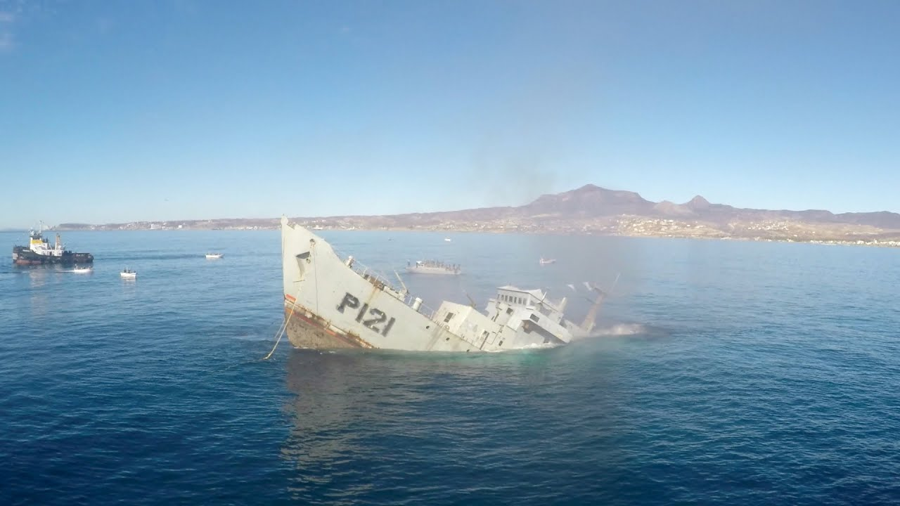 Gopro Awards Sinking A Mexican Navy Warship Youtube