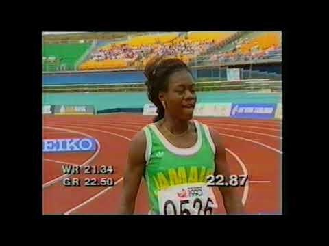 1990 Commonwealth Games Womens 200m Round 1 Heat 1 New Zealand
