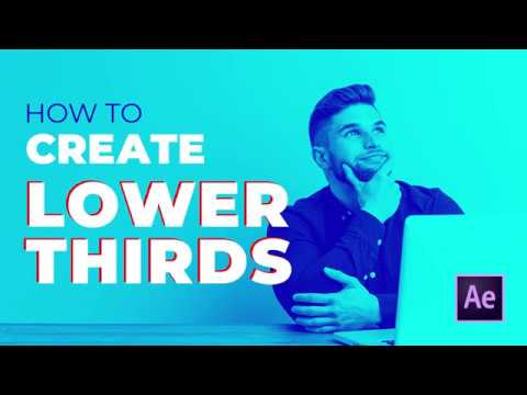 How to create Lower Thirds | After Effects Tutorial