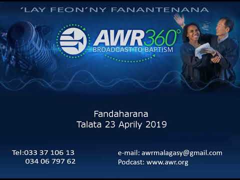 Fandaharana AWR-Malagasy 23 Avril 2019